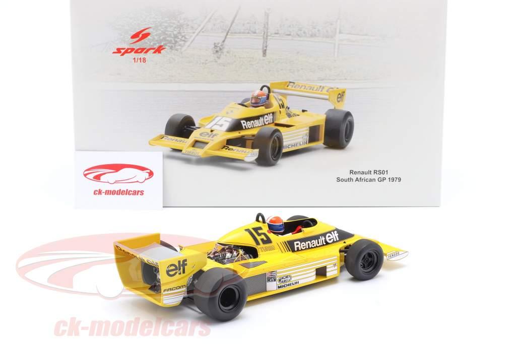 J.-P. Jabouille Renault RS01 #15 Pole Position South Africa GP F1 1979 1:18 Spark