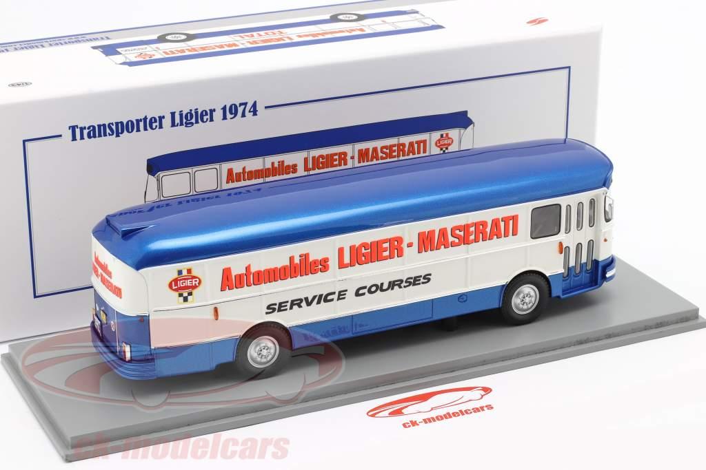Saviem Transporter 1974 formule 1 Team Ligier bleu / blanc 1:43 Spark