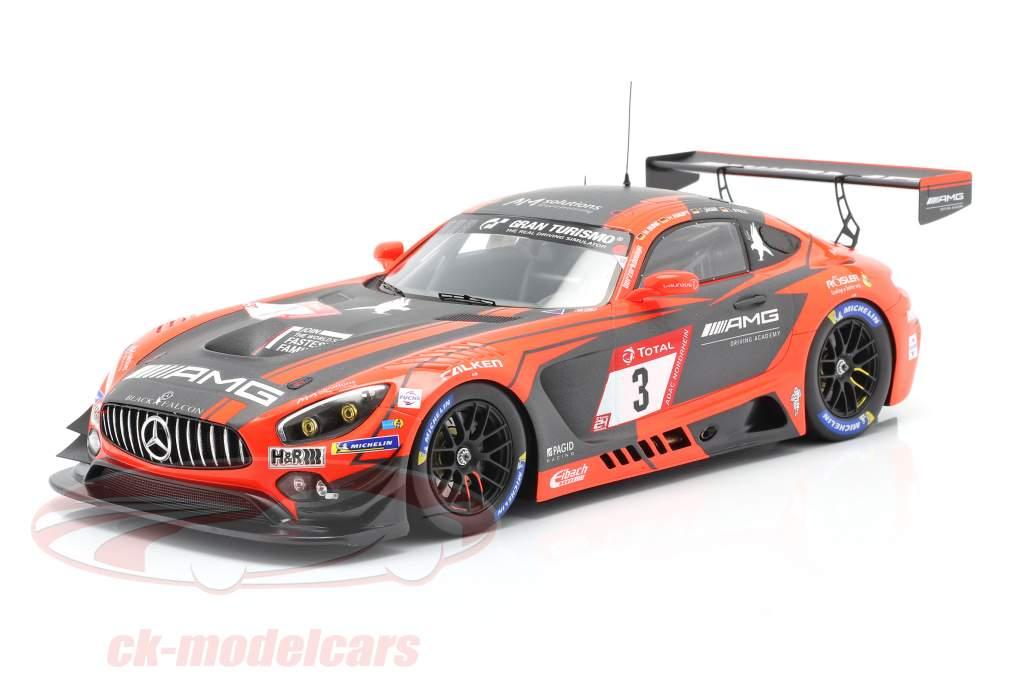 Mercedes-Benz AMG GT3 #3 2. plads 24h Nürburgring 2019 Team Black Falcon 1:18 Spark