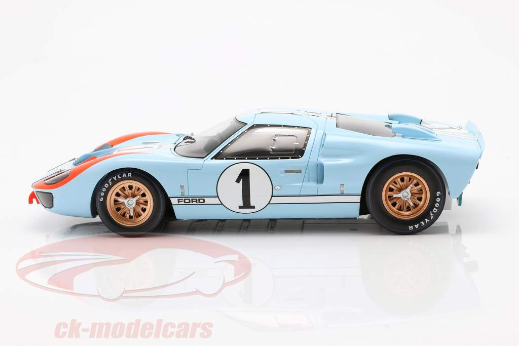 Ford GT40 MK II #1 2 ° 24h LeMans 1966 Miles, Hulme 1:18 Spark