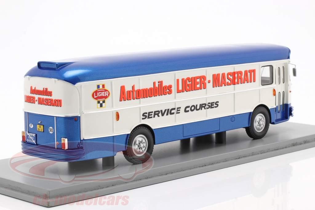 Saviem Transporter 1974 Formel 1 Team Ligier blau / weiß 1:43 Spark