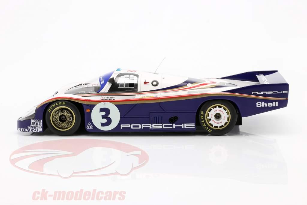 Porsche 956 #3 3 ° 24h LeMans 1982 Holbert, Haywood, Barth 1:18 Spark