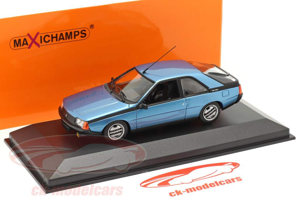 Renault Fuego Baujahr 1984 blau metallic 1:43 Minichamps