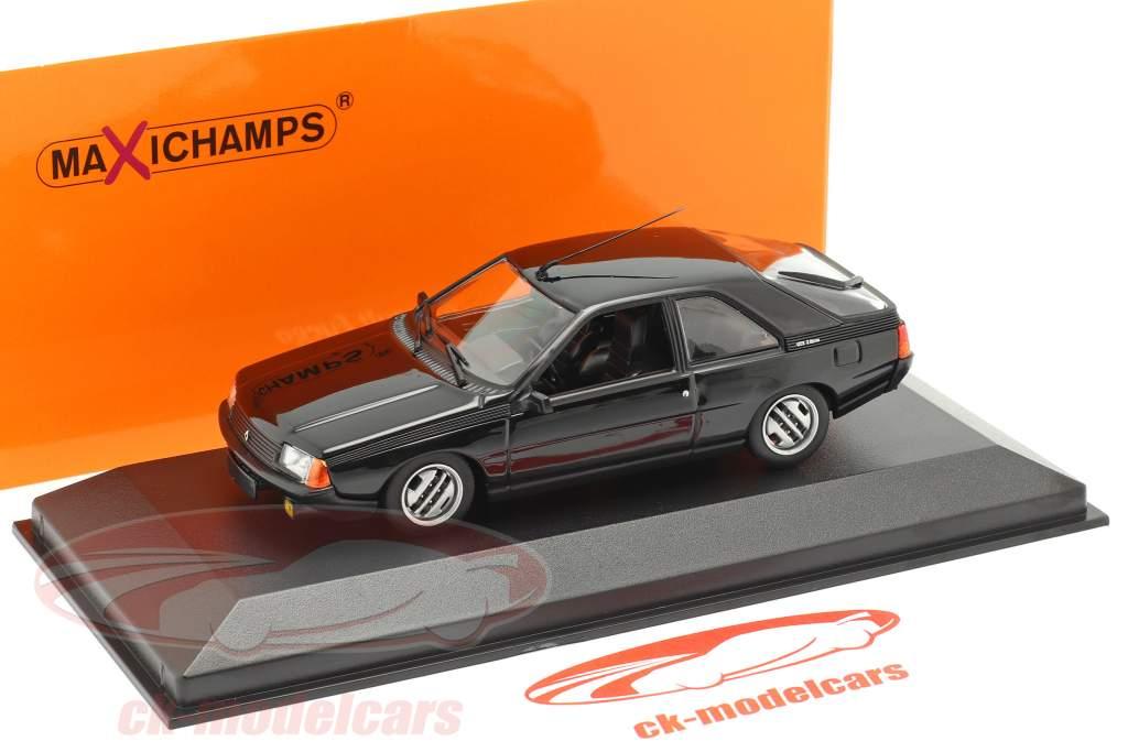 Renault Fuego Byggeår 1984 sort 1:43 Minichamps
