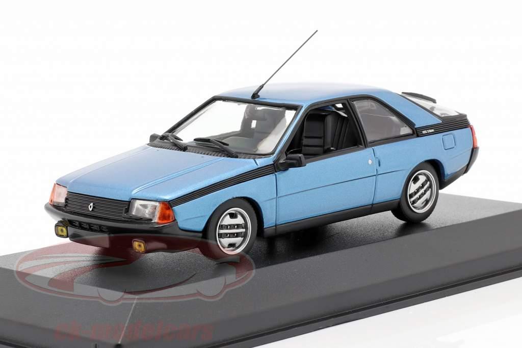 Renault Fuego Anno di costruzione 1984 blu metallico 1:43 Minichamps