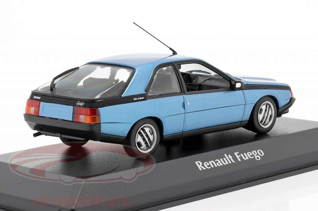 Renault Fuego year 1984 blue metallic 1:43 Minichamps