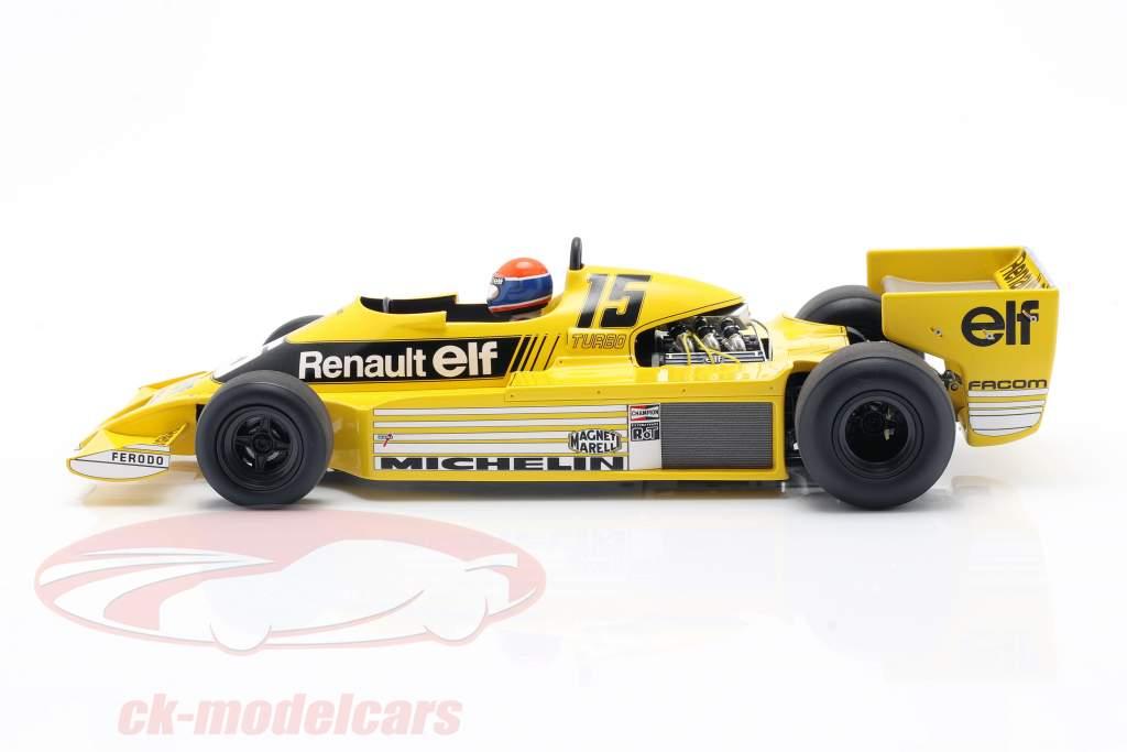 J.-P. Jabouille Renault RS01 #15 Pole Position Afrique du Sud GP F1 1979 1:18 Spark