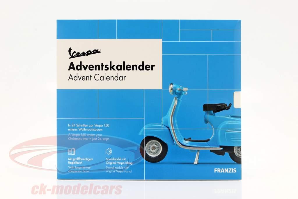 Vespa Adventskalender 2020: Vespa Baujahr 1965 blau 1:43 Franzis