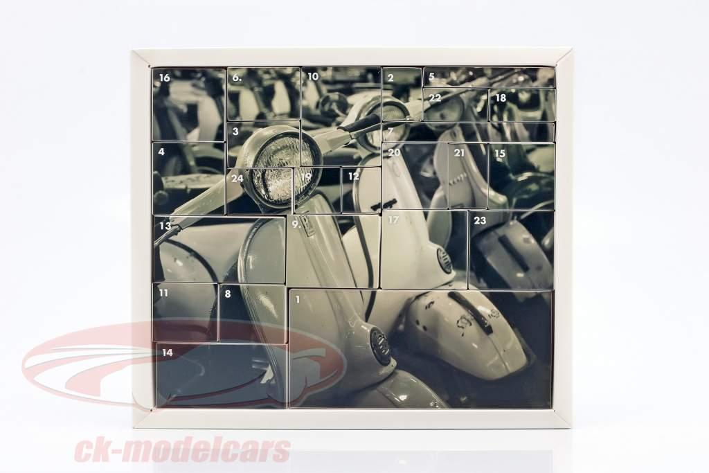 Vespa calendrier de l'Avent 2020: Vespa Année de construction 1965 bleu 1:18 Franzis