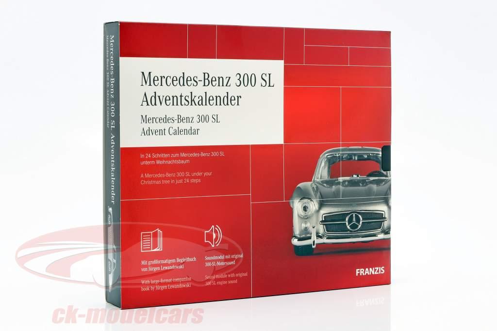 Mercedes-Benz 300 SL advent Calendar 2020: Mercedes-Benz 300 SL silver 1:43 Franzis