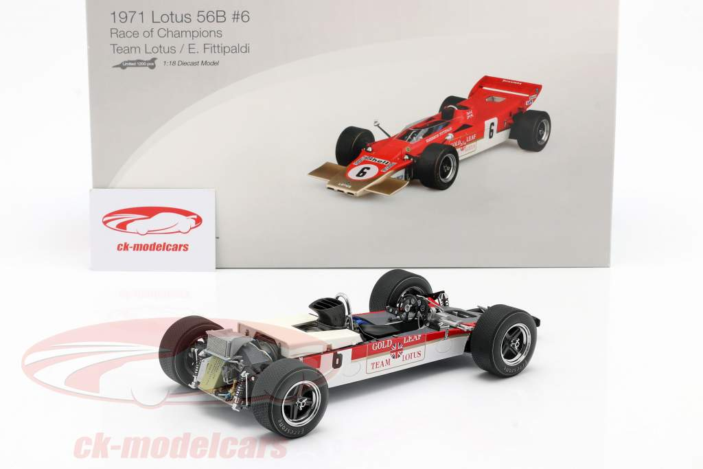 Emerson Fittipaldi Lotus 56B #6 Race of Champions 1971 1:18 TrueScale