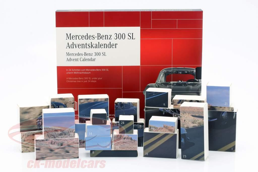 Mercedes-Benz 300 SL Calendario de adviento 2020: Mercedes-Benz 300 SL plata 1:43 Franzis