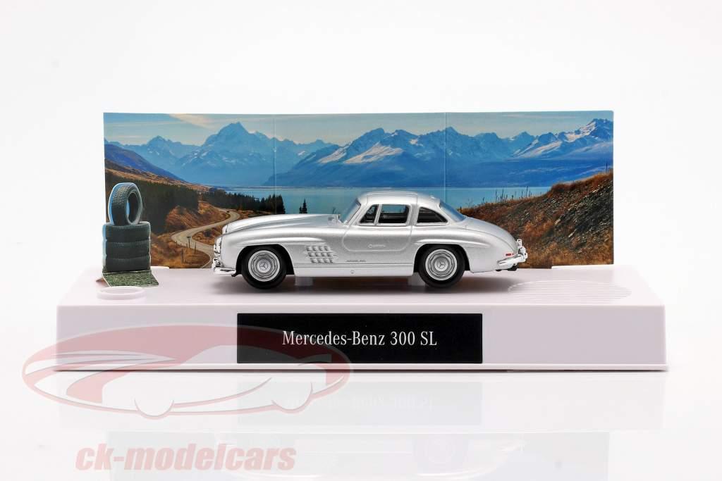 Mercedes-Benz 300 SL Advent kalender 2020: Mercedes-Benz 300 SL zilver 1:43 Franzis