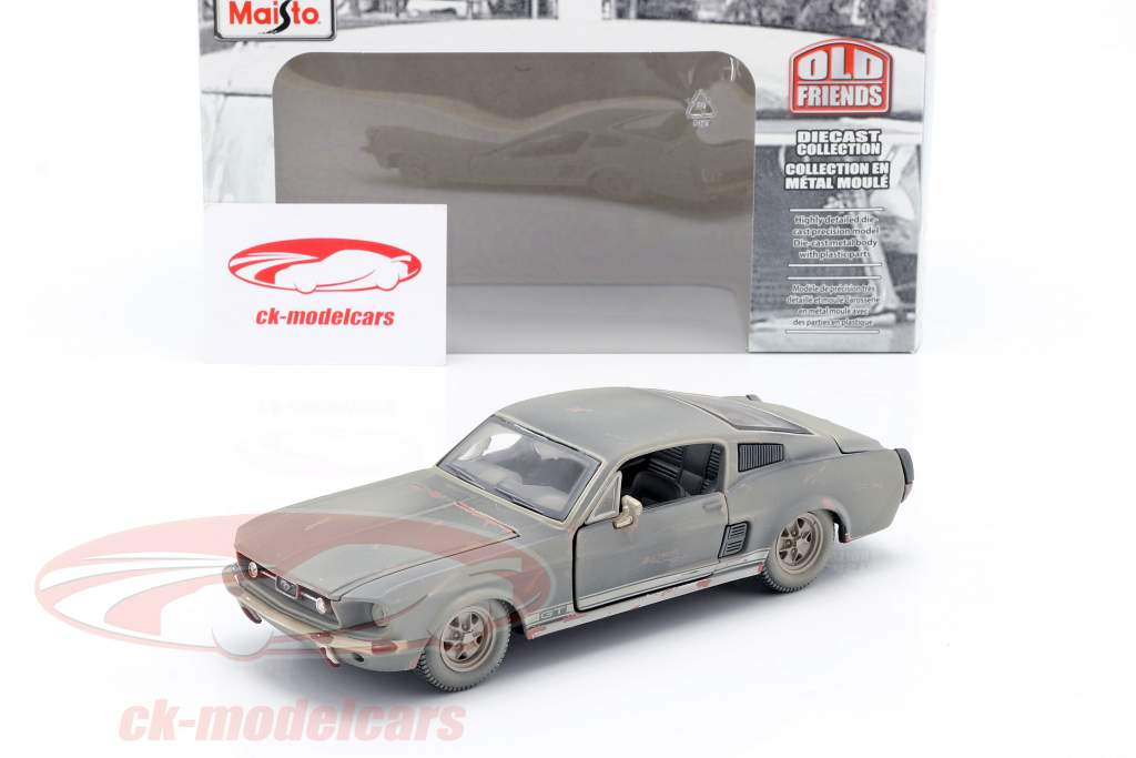 Ford Mustang GT year 1967 Dirty version 1:24 Maisto