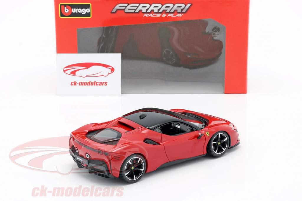Ferrari SF90 Stradale Bouwjaar 2019 rood 1:24 Bburago