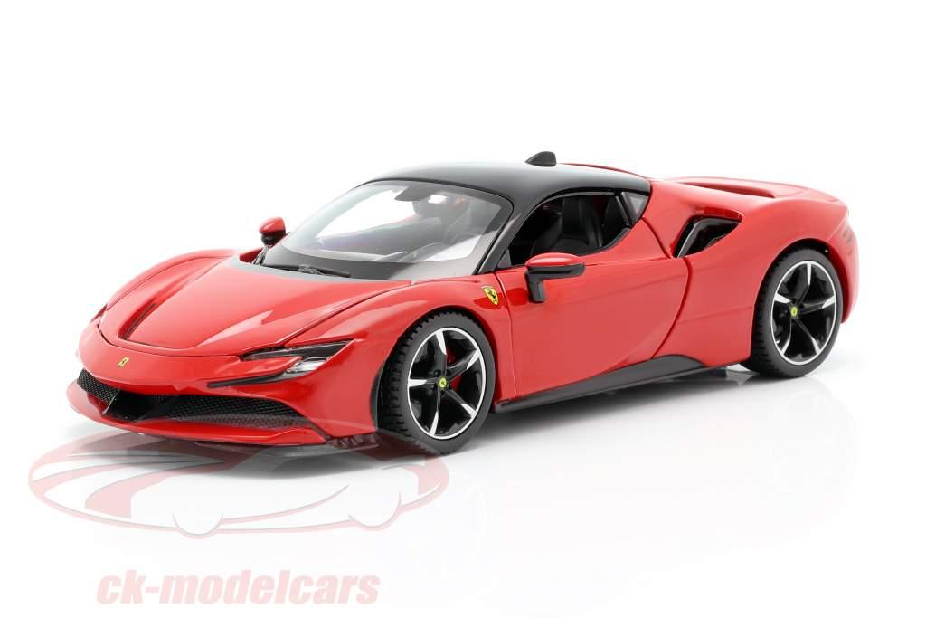 Ferrari SF90 Stradale Byggeår 2019 rød 1:24 Bburago
