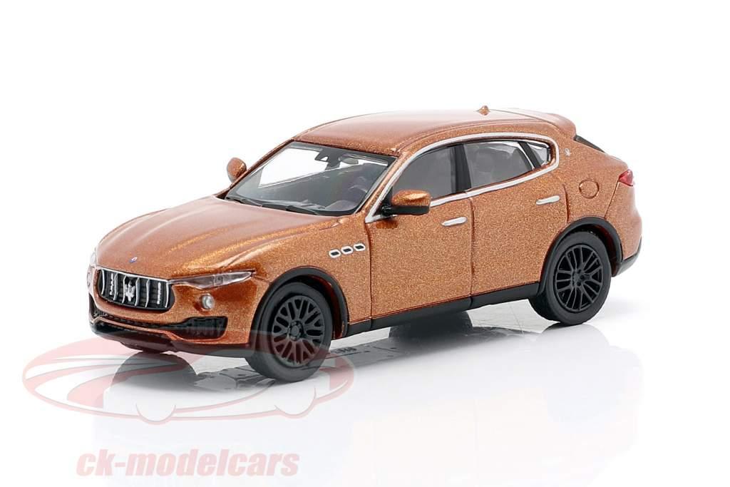 Maserati Levante an 2018 marron métallique 1:87 Minichamps