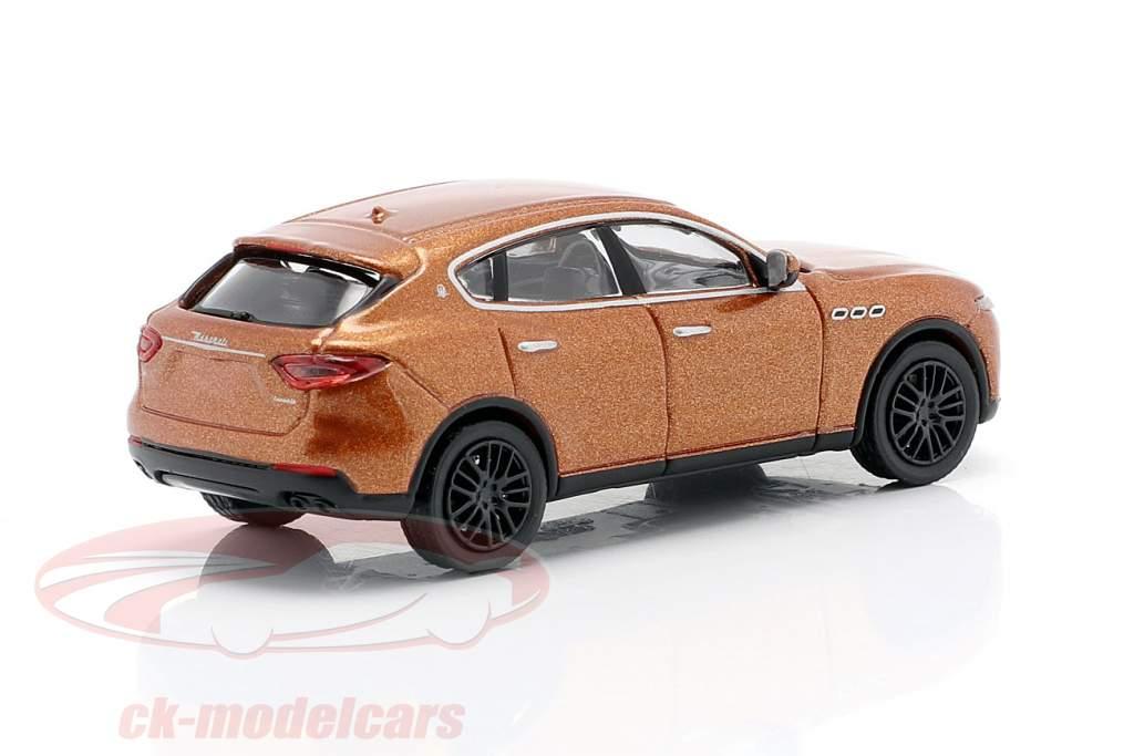 Maserati Levante year 2018 brown metallic 1:87 Minichamps