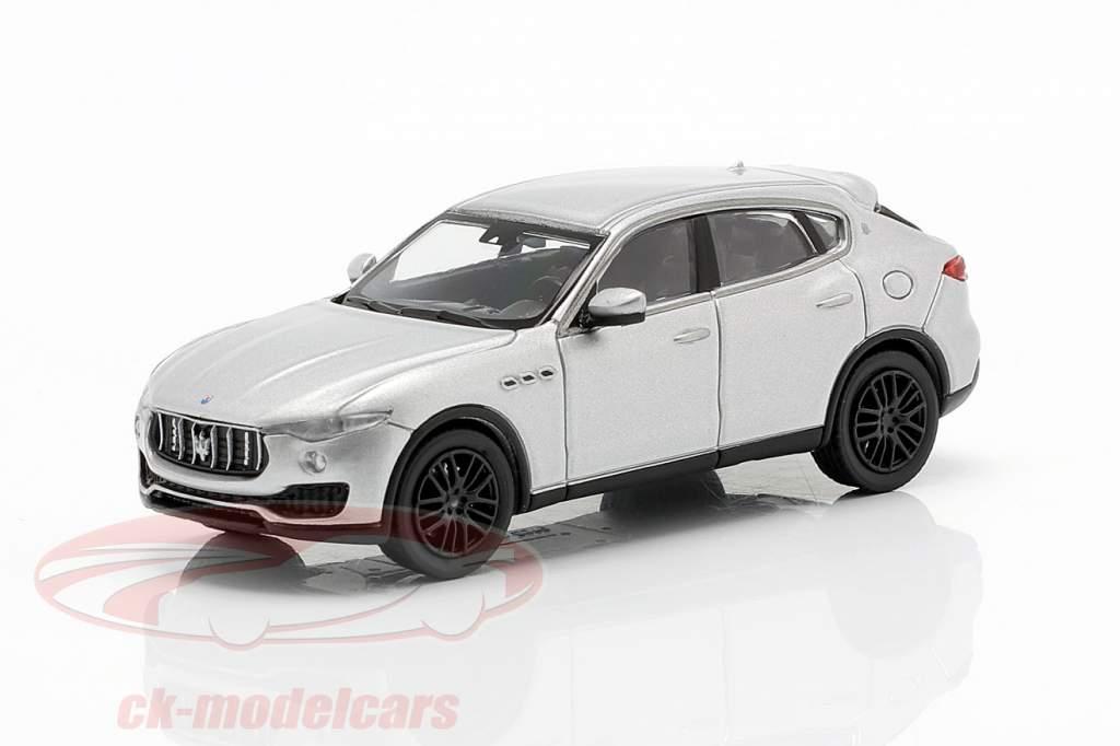 Maserati Levante ano 2018 prata 1:87 Minichamps