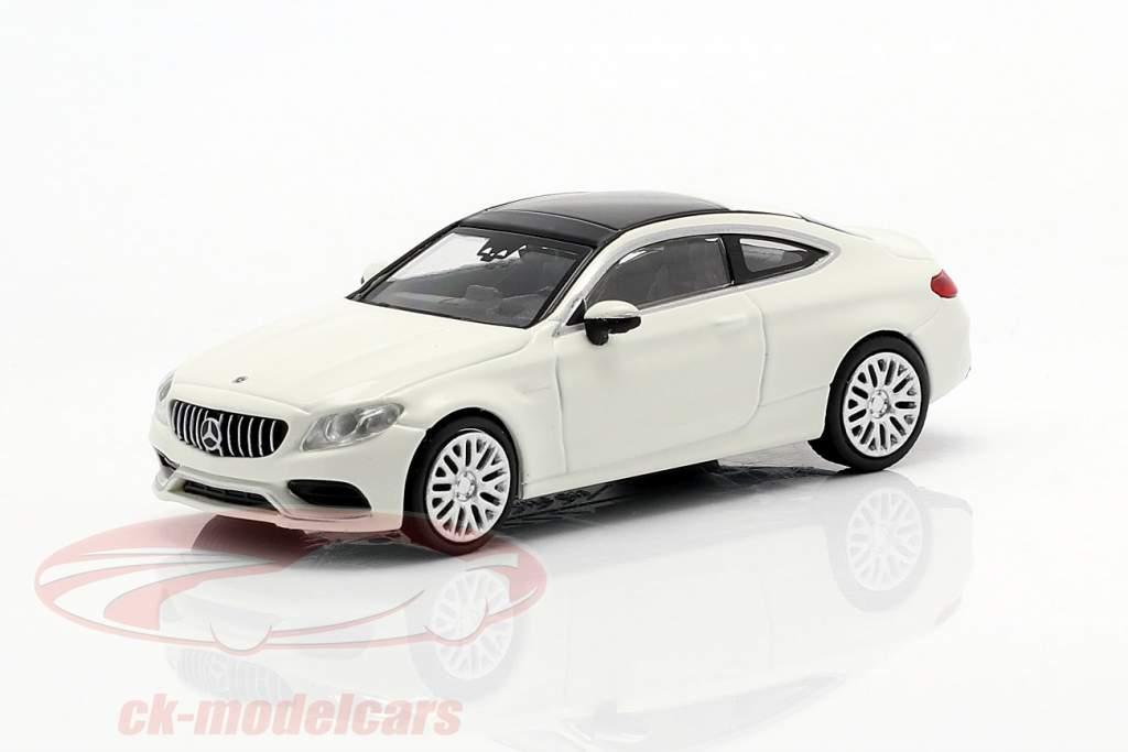 Mercedes-Benz AMG C63 Coupe Construction year 2019 White 1:87 Minichamps