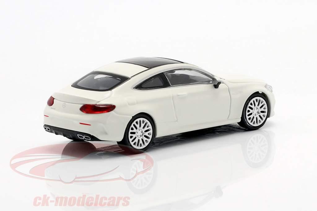 Mercedes-Benz AMG C63 Coupe Anno di costruzione 2019 bianca 1:87 Minichamps