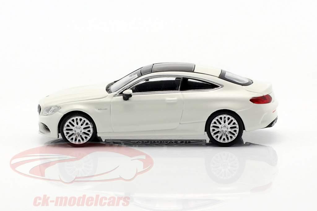 Mercedes-Benz AMG C63 Coupe Byggeår 2019 hvid 1:87 Minichamps