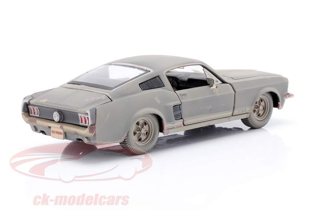 Ford Mustang GT Ano de construção 1967 Sujo versão 1:24 Maisto