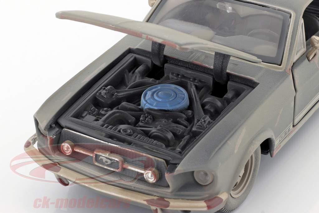 Ford Mustang GT Bouwjaar 1967 Vuil versie 1:24 Maisto