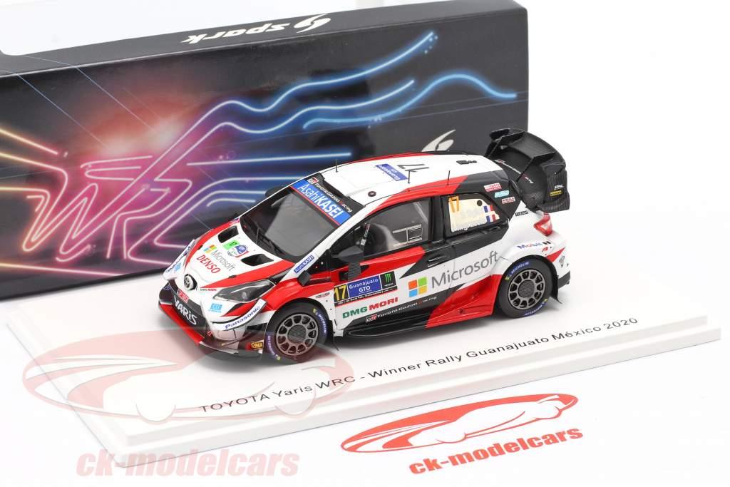 Toyota Yaris WRC #17 winnaar Rallye Mexico 2020 Ogier, Ingrassia 1:43 Spark