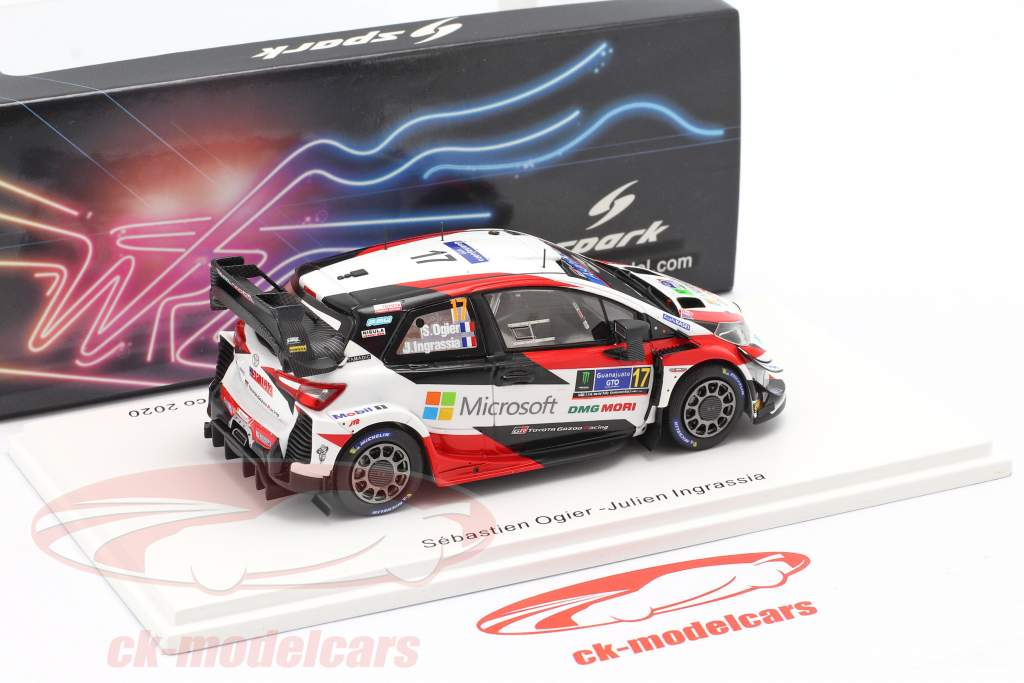 Toyota Yaris WRC #17 ganador Rallye México 2020 Ogier, Ingrassia 1:43 Spark