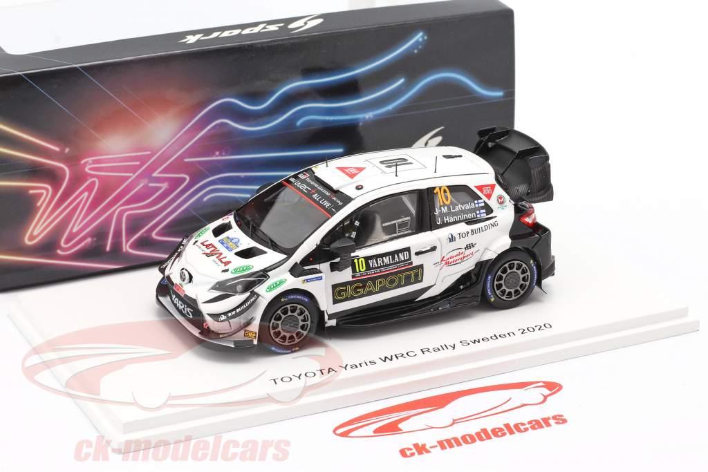 Toyota Yaris WRC #10 Rallye Suède 2020 Latvala, Hänninen 1:43 Spark