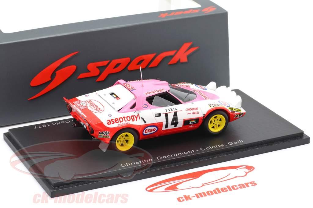 Lancia Stratos #14 winner Coupes des Dames Rallye Monte Carlo 1977 1:43 Spark