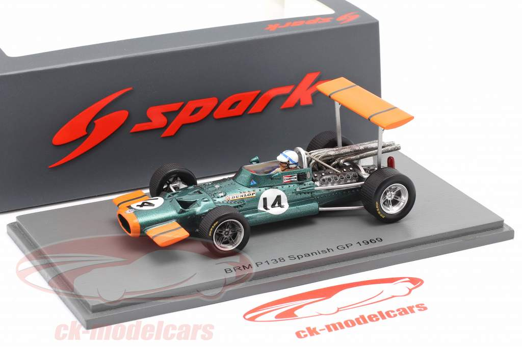 John Surtees BRM P138 #14 5e Espagnol GP formule 1 1969 1:43 Spark