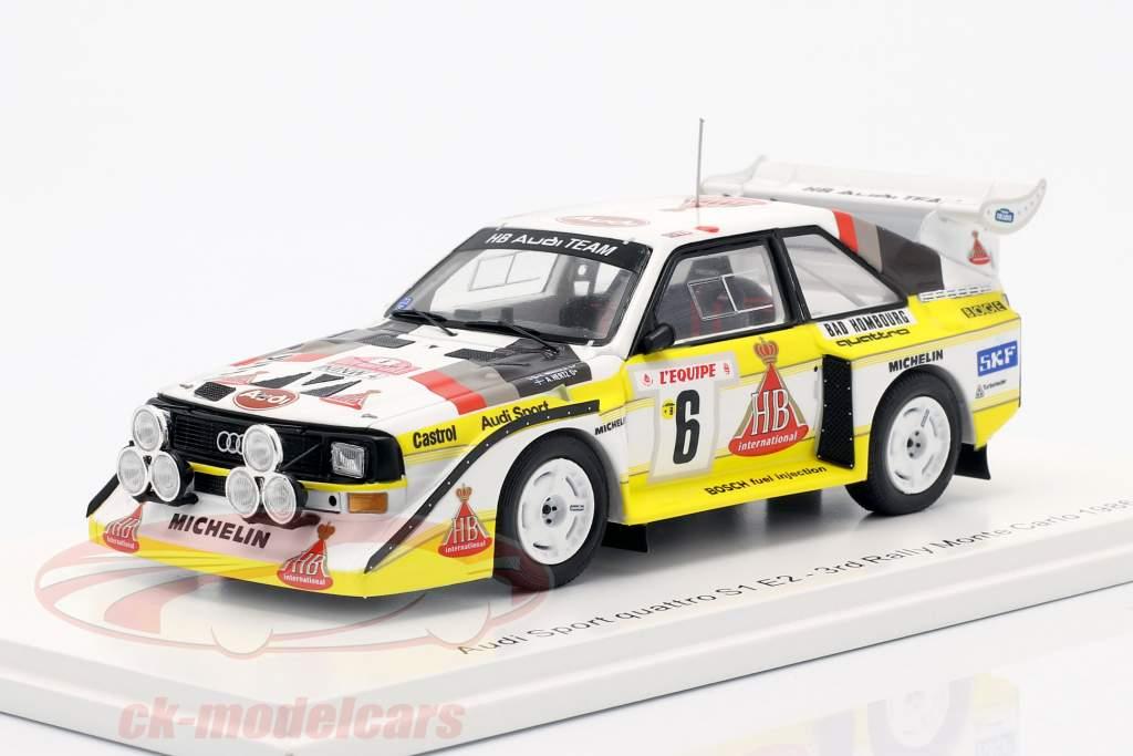 Audi Quattro Sport E2 #6 3. Rallye Monte Carlo 1986 Mikkola, Hertz 1:43 Spark