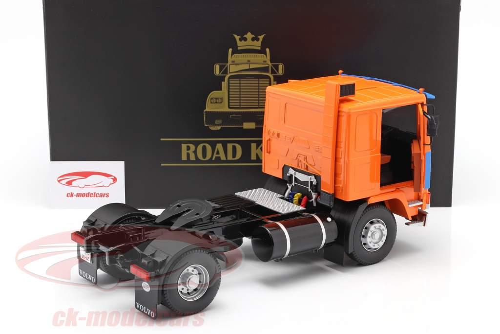 Volvo F12 un camion Deutrans Année de construction 1977 Orange / bleu 1:18 Road Kings