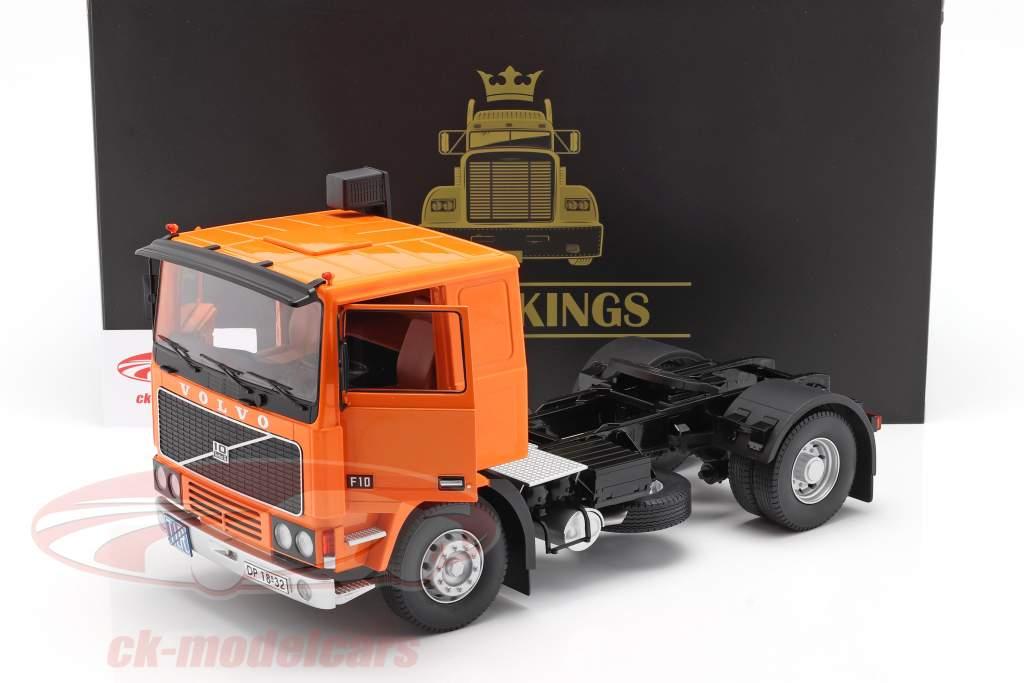 Volvo F10 Caminhão Deutrans Ano de construção 1977 laranja / Preto 1:18 Road Kings