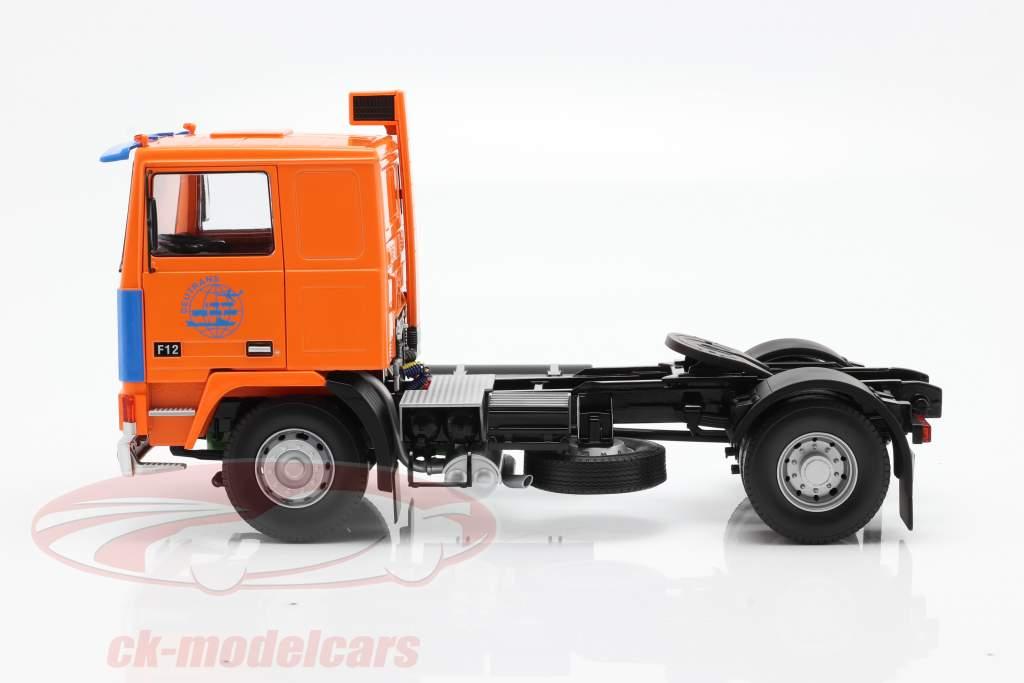 Volvo F12 Sattelzugmaschine Deutrans Baujahr 1977 orange / blau 1:18 Road Kings