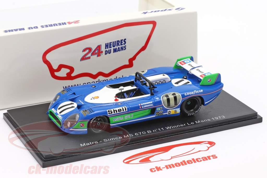 Matra MS 670B #11 vencedora 24h LeMans 1973 Pescarolo, Larrousse 1:43 Spark
