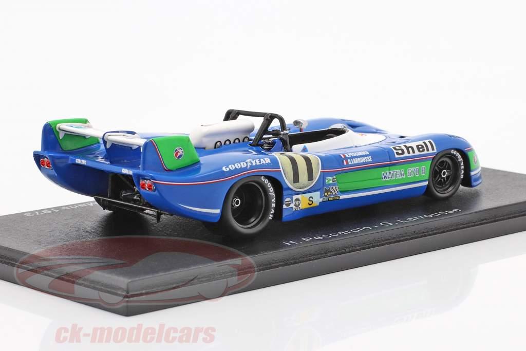 Matra MS 670B #11 Sieger 24h LeMans 1973 Pescarolo, Larrousse 1:43 Spark