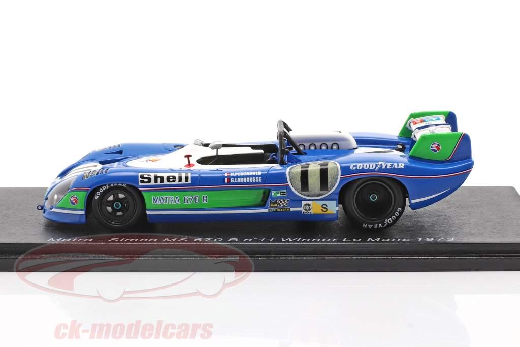 Matra MS 670B #11 vinder 24h LeMans 1973 Pescarolo, Larrousse 1:43 Spark