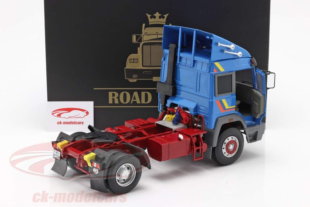 Iveco Turbo Star Lastbil Byggeår 1988 blå 1:18 Road Kings