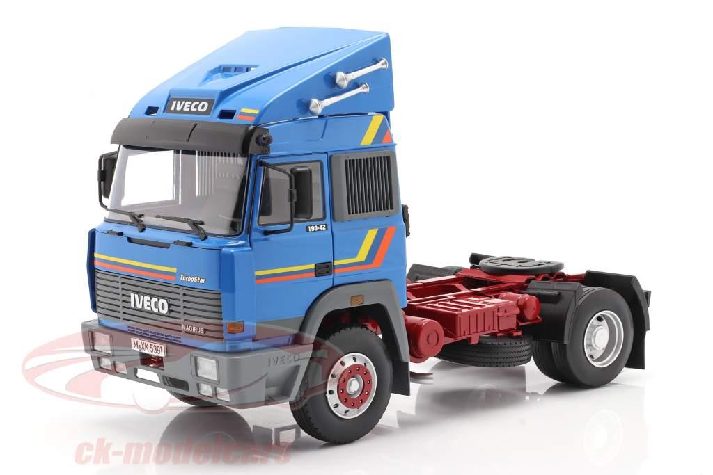 Iveco Turbo Star Vrachtwagen Bouwjaar 1988 blauw 1:18 Road Kings