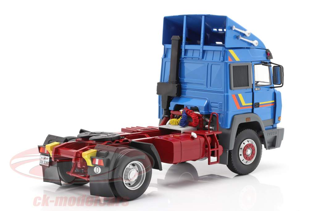 Iveco Turbo Star Lastbil Byggeår 1988 blå 1:18 Road Kings