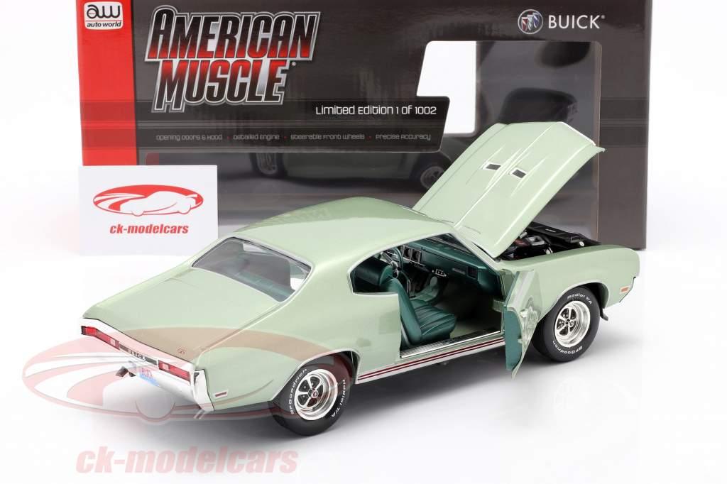 Buick Grand Sport 455 Hardtop Anno di costruzione 1970 marinaio verde 1:18 AutoWorld