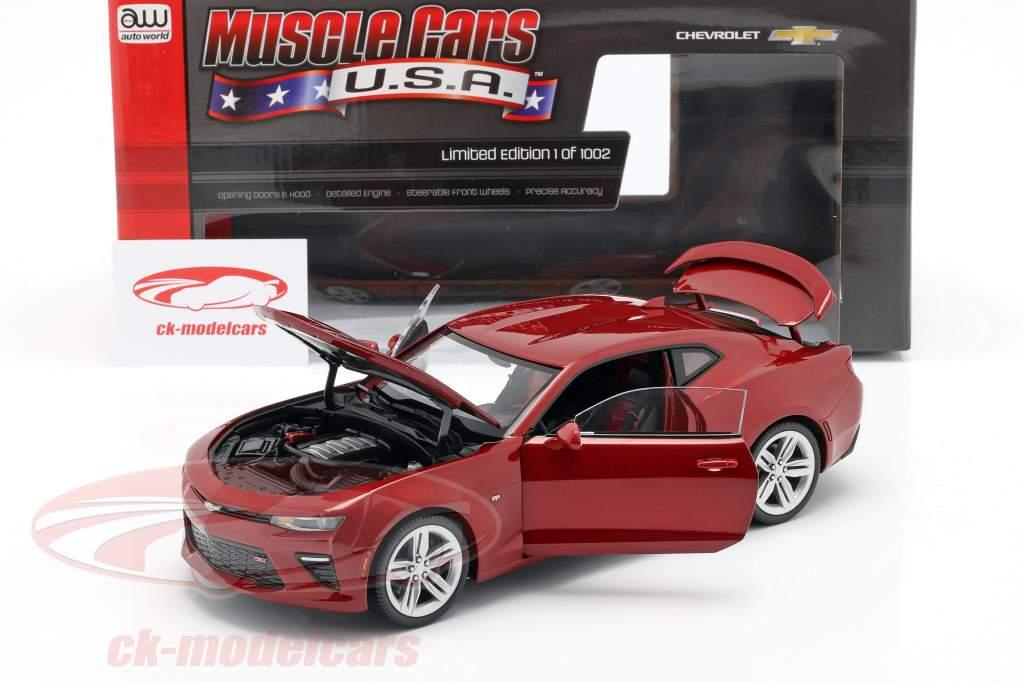 Chevrolet Camaro SS ano 2016 vermelho 1:18 AutoWorld