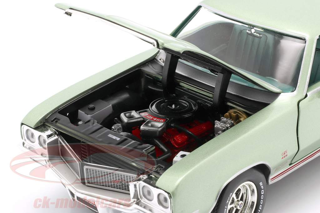 Buick Grand Sport 455 Hardtop Année de construction 1970 Brume de mer vert 1:18 AutoWorld