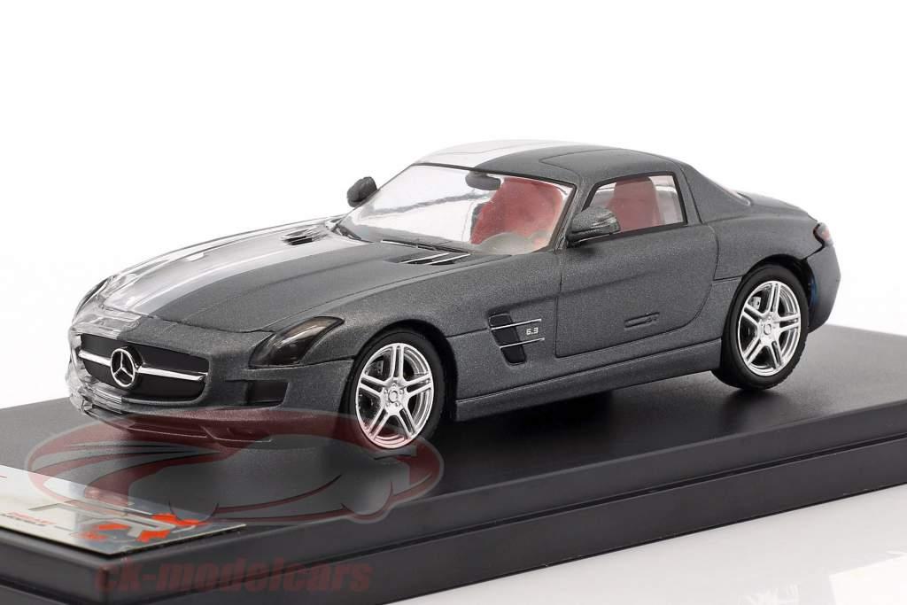 Mercedes-Benz SLS AMG Opførselsår 2011 kedelig grå / gennemsigtig 1:43 Premium X