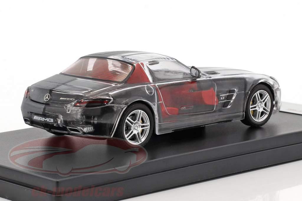 Mercedes-Benz SLS AMG Baujahr 2011 matt grey / durchsichtig 1:43 Premium X