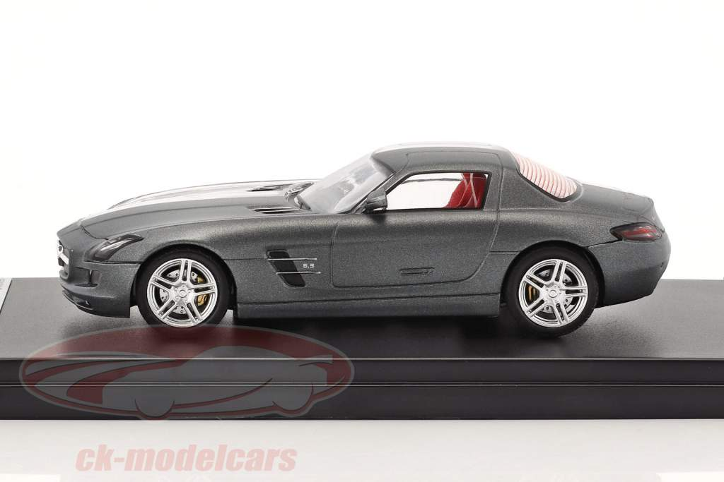 Mercedes-Benz SLS AMG anno di costruzione 2011 ottuso grigio / trasparente 1:43 Premium X