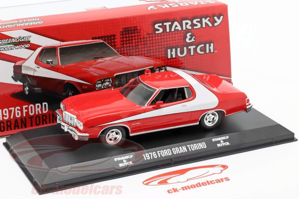 Ford Gran Torino TV-Serie Starsky and Hutch 1975-79 rojo / blanco 1:43 Greenlight